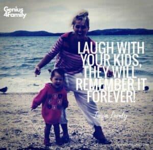 śmiej się razem ze swoimi dziećmi, one będą to zawsze pamiętać